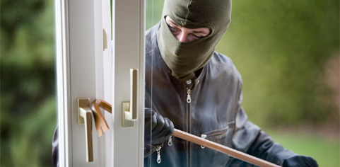 Burglars can strike at any time