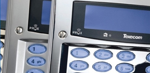 Intruder alarm control panel (Texecom) - just one of a number of securty products we install